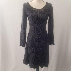 Joie leopard sweater dress size M